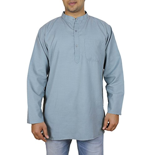 Kurta Summer Dresses for Men (Grey), 100% Cotton, Size XXL, Chest 46 - My Urban Order Outfitters