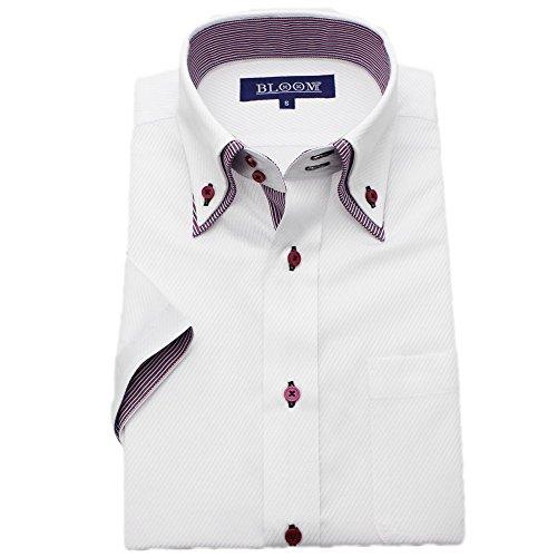 所得一回修復(ブルーム) BLOOM 2018夏 オリジナル 半袖 ワイシャツ クールビズ yシャツ S/M/L/LL/3L/4L/5L/6L 10柄 形態安定加工 ボタンダウン