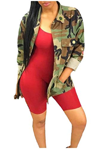 EnergyWomen Camouflage Jackets Long Sexy Overalls Casual AS1 Blazer Mid rrRqd
