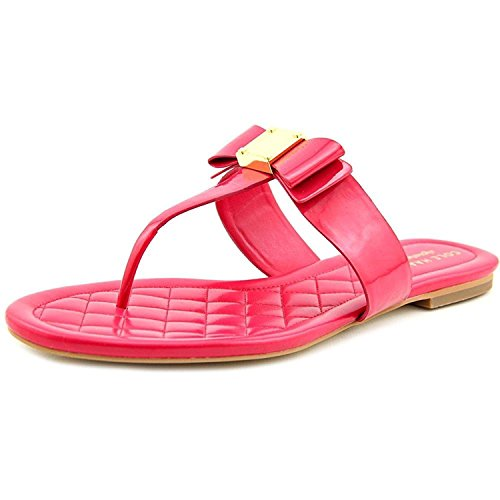 Cole Haan Women's Tali Bow Pink Elctra Patent Flat Sandal (6)