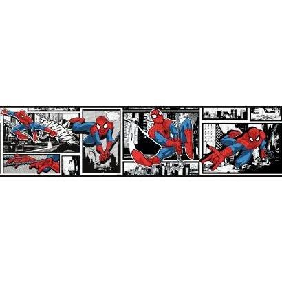 York Wallcoverings Marvel Utimate Spiderman DY0250BD Comic Wallpaper Border