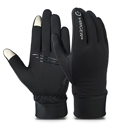 Vbiger Winter Gloves Touch Screen Gloves Outdoor Cycling Gloves For Men And Women (Black 2, M)