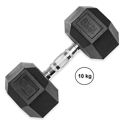 LiveUP Sports - Hex Dumbbell 10Kg Hexbell Dumbbell Kurzhantel Startseite Kraftsport Hanteln Gewichte