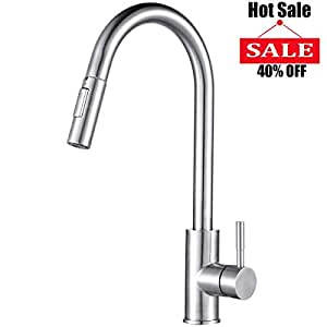Visen Kitchen Faucet High Arc Stainless Steel Single Lever Handle
