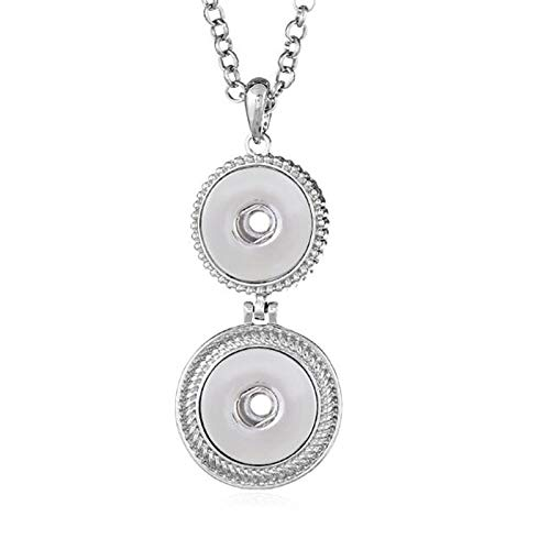 New Elegant Silver Color Rhinestone Snaps Necklace & Pendants | Fit 18mm 20mm Snap Buttons Jewelry | with Chain
