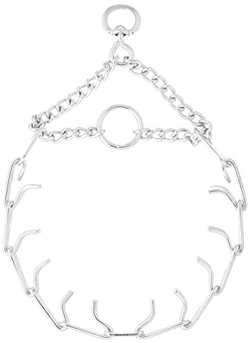 P.S.I. Imports DPS6423 Chrome Plated Prong Training Dog Collar, Small 2.25 mm