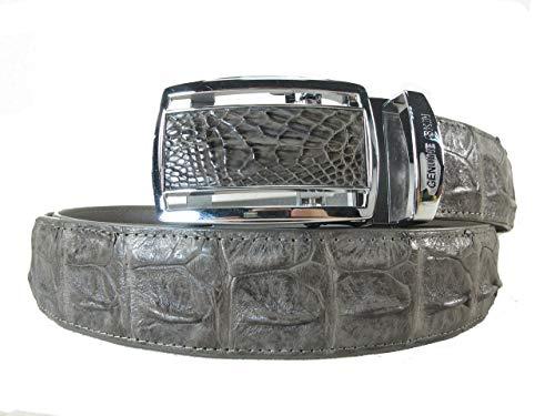 (PELGIO Genuine Crocodile Backbone Skin Leather Men's Belt 46