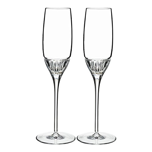 Marquis by Waterford Addison Flute Glasses, Clear, 7 oz Clear 7 Ounce Flute