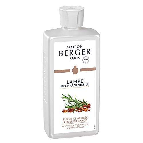 Amber Elegance - Lampe Berger Fragrance Refill for Home Fragrance Oil Diffuser - 16.9 Fluid Ounces - 500 milliliters