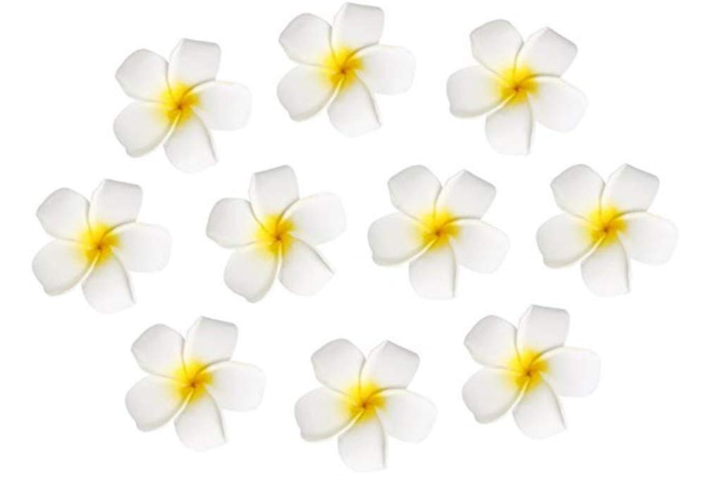 10pcs-Hawaiian-Artificial-Plumeria-Foam-Flower-Hair-Clip-For-Wedding-Party-Headdress-Home-Decoration-White-Yellow