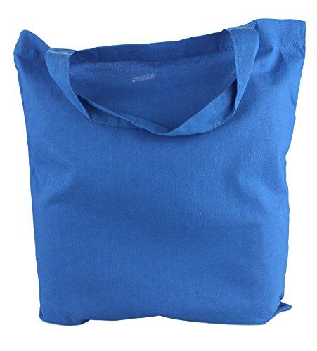 de en poignées Naturel Coton Sacs en 5 38x42cm Pack Blue Courtes 2Store24 1IYqx5pn