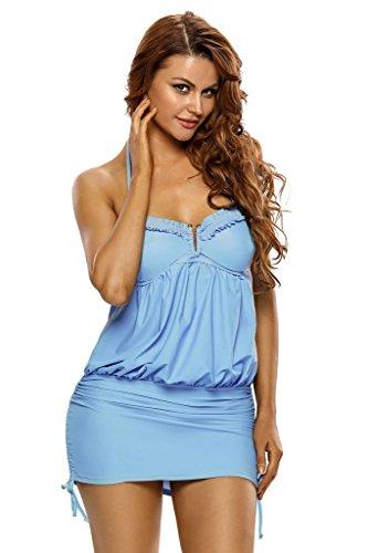 Aleumdr Swimdress Backless Tankini Panties product image