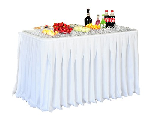 Giantex 4 Foot Party Ice Folding Table Plastic With