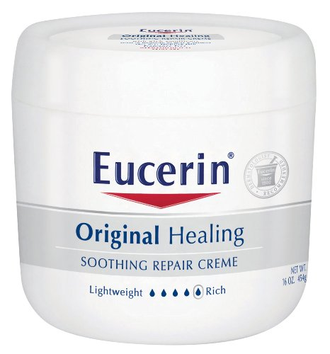 Eucerin originale de guérison apaisante Crème Repair, 16-Ounce Jars (Pack de 2)