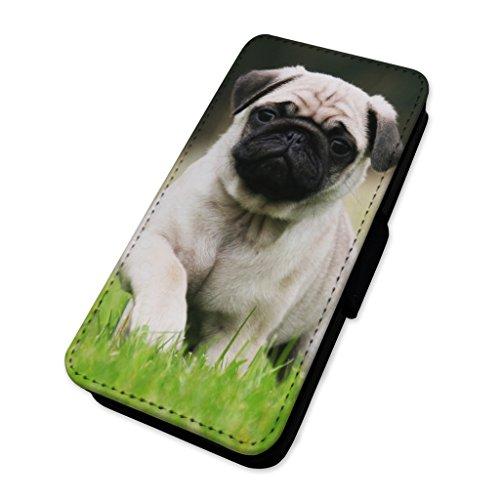 Beautiful Cream Pug Dog–Flip cover in pelle copertura di carta Apple Iphone 8