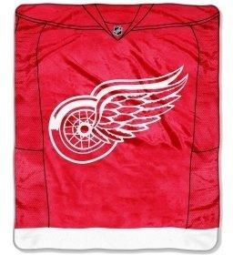 Detroit Red Wings 50''x60'' Royal Plush Raschel Throw Blanket - Jersey Design ()