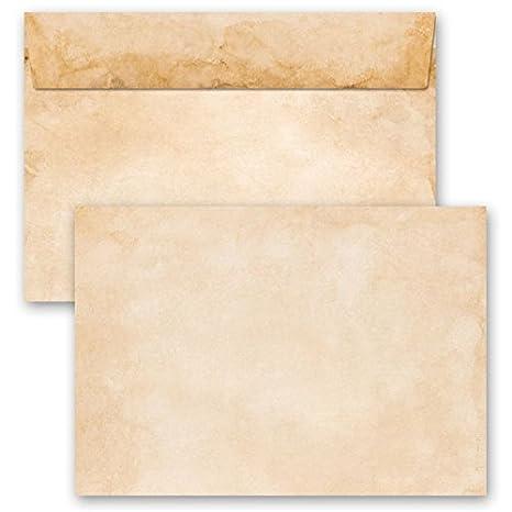 110x220 mm Motiv-Briefumschl/äge VINTAGE 10 DIN LANG Selbstklebend mit Abziehstreifen Briefumschl/äge ohne Fenster