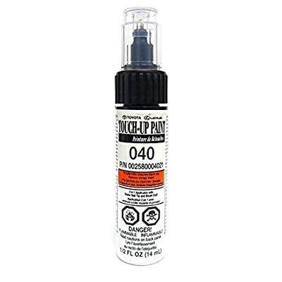 Genuine Toyota 00258-00040-21 White Touch-Up Paint Pen (1/2 fl oz, 14 ml)