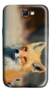 cover customizable fox eyes PC case/cover for samsung galaxy N7100/2