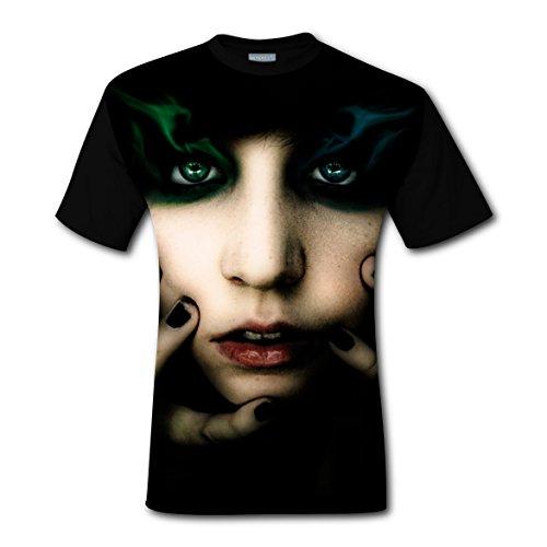 Burning Heterochromia T-shirts Tops Short Sleeve Tee Shirt Sports Hot for Men L (Synchronized Show Diy Light Christmas)