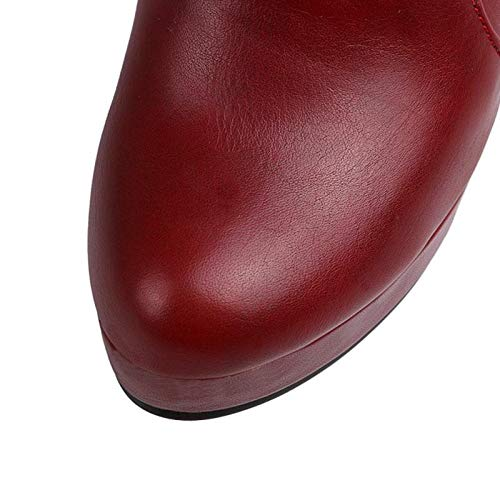HAOLIEQUAN Größe 31-45 Frauen Stiefel Mitte Kalb Inside Heel Heel Heel Winter Schuhe Frau Zurück Strap Bowknot Warme Lange Stiefel Keil Schuhe c7ddae