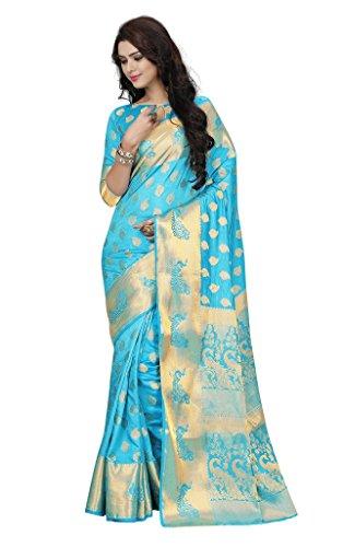 Li Te Ra Women's Traditional Silk Jacquard Banarasi Saree Free Size - Te Li