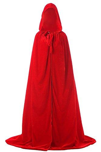 Duraplast Men's Full Length Hooded Cloak Halloween Costume Accessories Red