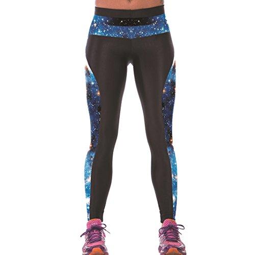 Sasairy señoras de las mujeres de las polainas de Deportes de cuerpo entero pantalones elástico pantalones de las medias No se consideran a través la aptitud de la yoga Entrenamiento Running Wear inco Color-15