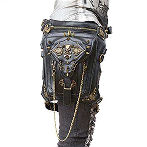 Gothic Steampunk Skull Retro Rock Bag Waist Bag Shoulder for sale  Delivered anywhere in Canada