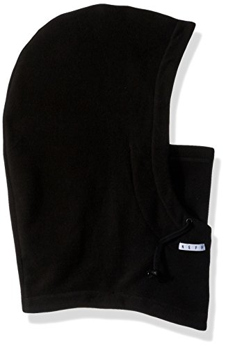 - neff Men's Peak Riding Hood-Snowboard Ski Mask-Winter Facemask, black, One Size