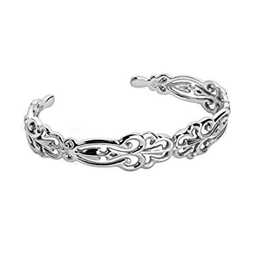 Carolyn Pollack Sterling Silver Open Filigree Cuff Bracelet Size ()