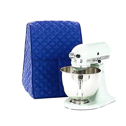 Large Size Stand Mixer Cover, Dustproof 4.5-6 Quart Kitchen Aid Organizer Bag, Mixer Covers Fits All Tilt Head & Bowl Lift Models for Kitchen Aid, Sunbeam, Cuisinart, Hamilton Beach Mixers(Blue) (Blue Kitchenaid Mixer Cover)