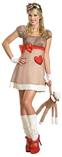 Ms. Sock Monkey Deluxe Costume - Large - Dress Size -