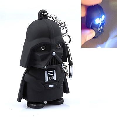 Nicky's Gift Star War Darth Vader Luminous Voice Keychain LED Small Flashlight Key Chain