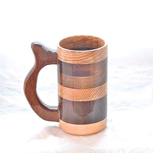 12 Ounce Hickory, Mahogany, and Walnut Mug, Wooden Beer Mug, Wood Beer Stein, Wood Mug, Drinking Mug -