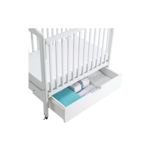 Angeles Baby Infant Crib Bed Slide Diaper Storage Drawer White by AngelesStore