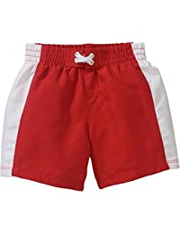 d08f660353 Baby Infant Boys OP Red White Striped Swim Trunks Shorts · Ocean Pacific