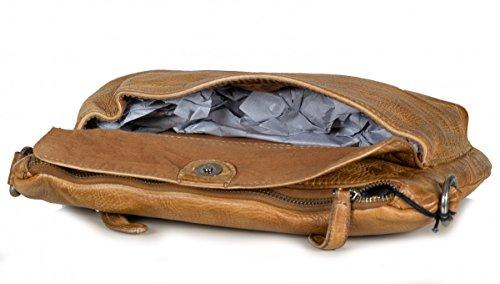FREDsBRUDER S.C. Cutty Umhängetasche - Clutch aus weichem Leder caramel (26 x 23 x 2 cm)