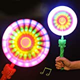 LILICAT LED Light Up Flashing Spinning Music Windmill Strip Shape Child Toy Gift - Random Color (Random)