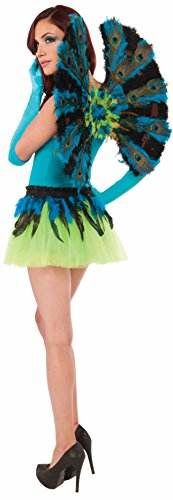 Forum Novelties Women's Deluxe Peacock Wings, Multi, One Size -