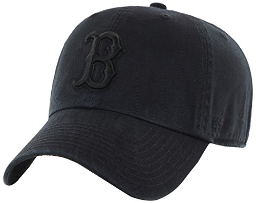 Boston Red Sox Tonal Black/Black Clean Up Cap