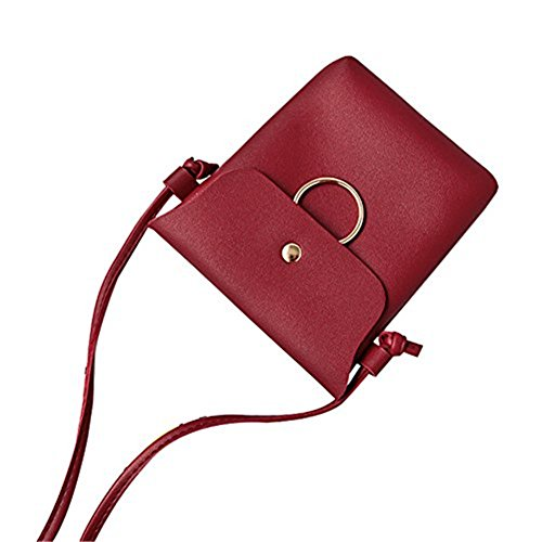 Rouge Sac 18cm Red 3 bandoulière pour 14 femme Wicemoon qgdn8wxIg