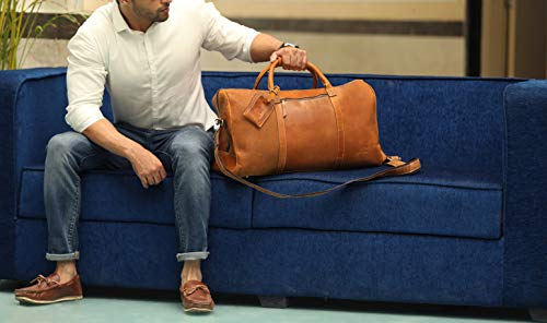 995f3639e8f7 Leather Travel Duffel Bag - Airplane Underseat Carry On Bags By ...