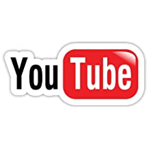 "YouTube You Tube sticker decal 6"" x 3"""