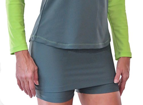 Mini Skirt with attached Mini Shorts Modest Active Wear Swimsuit (Mod Mini Skirt)