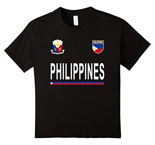 Kids Philippines Cheer Jersey 2017 - Football Filipino T-Shirt 8 Black