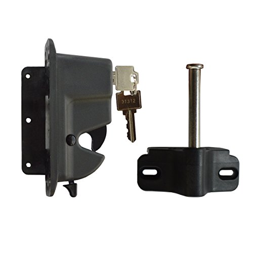Keystone Black Nylon Polymer Key-Lockable Latch | 1 Sided | Keyed Alike | KLADV-P1-BK-KA by Nationwide Industries