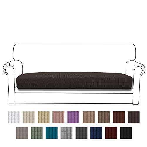 Easy-Going Stretch Cushion Cover Sofa Cushion Furniture Protector Sofa Seat Sofa slipcover Sofa Cover Soft Flexibility with Elastic Bottom(Oversized Sofa Cushion,Chocolate)