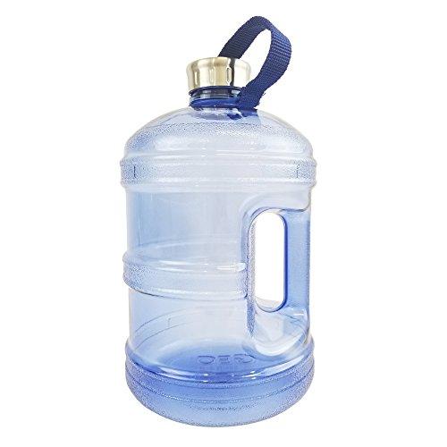 1 Gallon BPA FREE Reusable Plastic Drinking Water Bottle w/ Stainless Steel Cap - Dark Blue