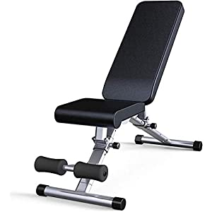 Timtools Fitness Chair Workout Bench Sit-Ups Abdominal Board Gym Multifunctional Dumbbell Bench Home Bench Press Fitness Equipment Folding Storage Multi-Adjustable Seat